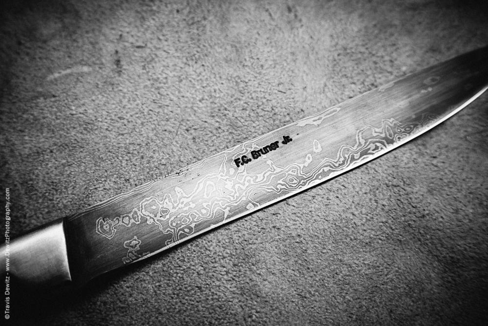 FC Bruner Damascus Knife Blade