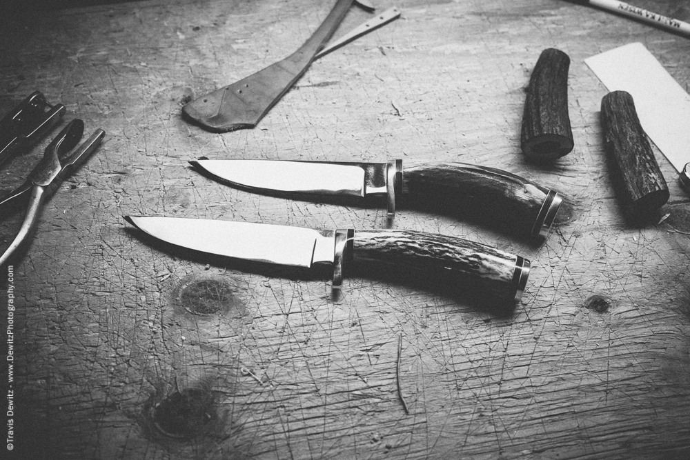Pair of Custom Hand Made Hunting Knives