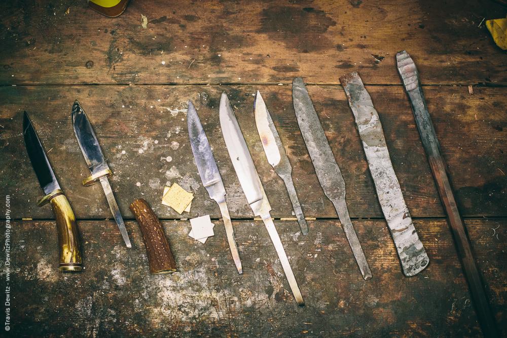 Progression of a Handmade Hunting Knife
