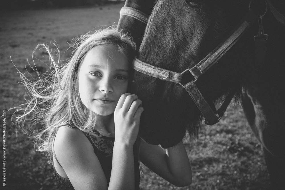 Teslyn - Girl Hugging Horse