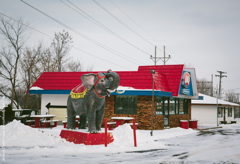 Chippewa Falls- Dairy Queen Elephant Statue