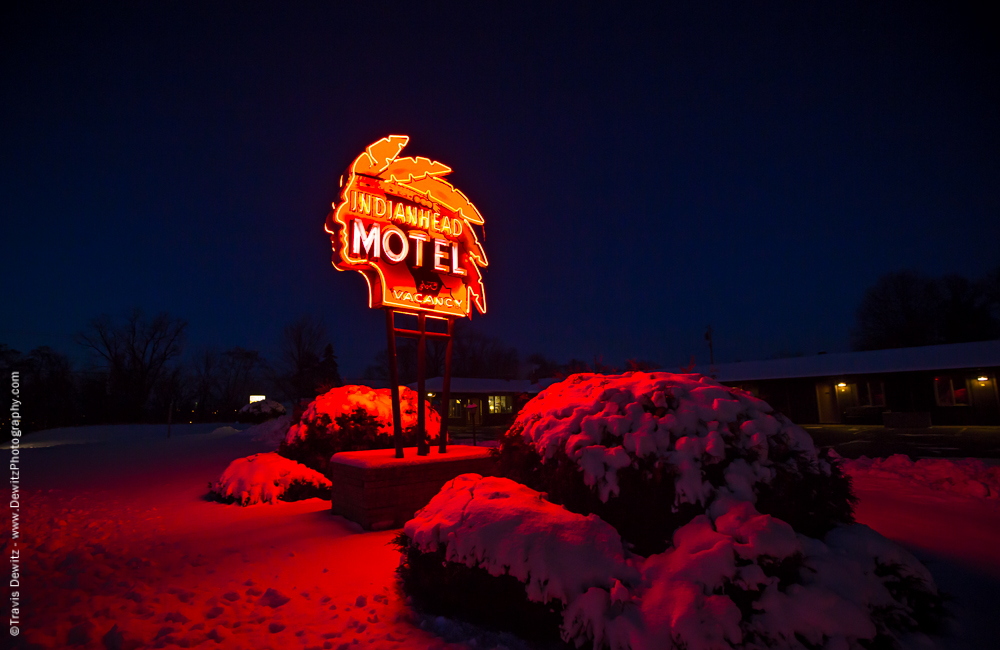 Chippewa Falls-Indian Head Motel Neon Sign