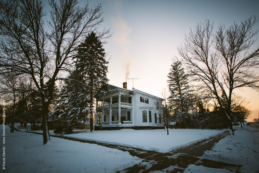 Chippewa Falls- White Mansion Chimney Smoke