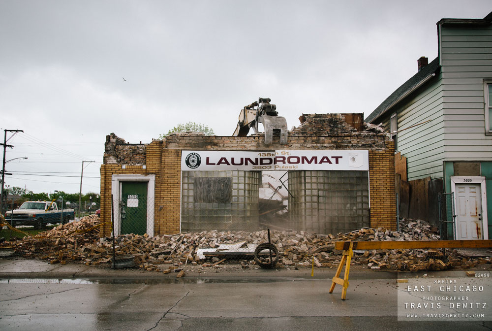 East Chicago - Demolition of 138th Street Laundromat