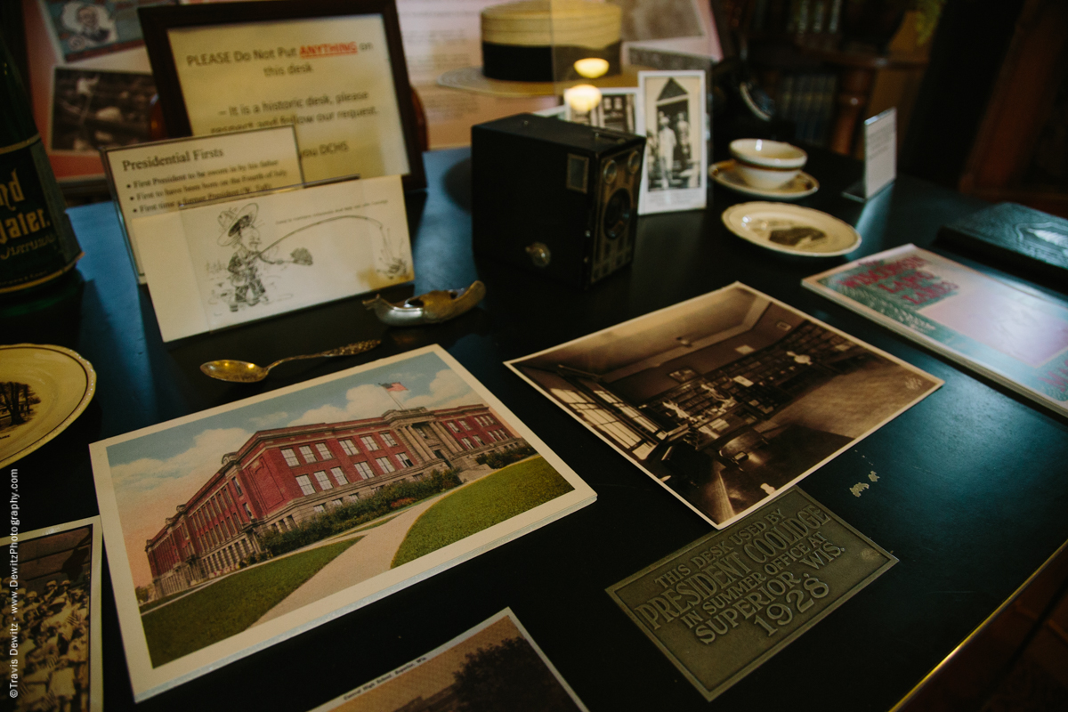 Douglas County Historical Society Superior Wisconsin President Coolidge Desk