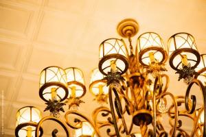 First Phoenix Group Antique Gold Chandelier Lighting Fixture