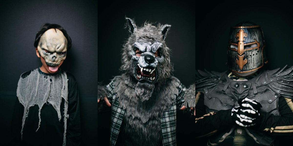 Halloween-Costume-Portraits - Skull - Wolf