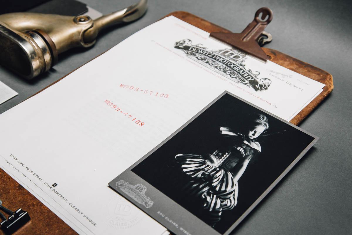 dewitz photography vintage branding set clip board cabinet card embosser-2420