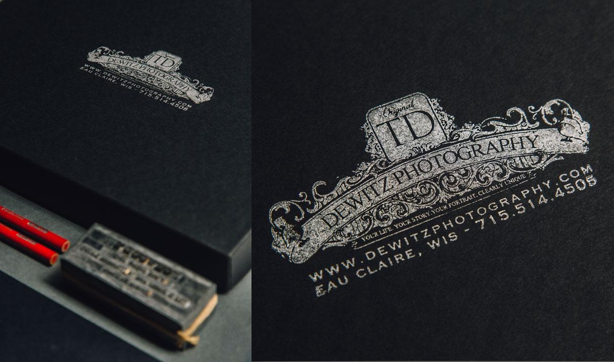 dewitz photography vintage branding set ink stamp silver photo box eau claire wis