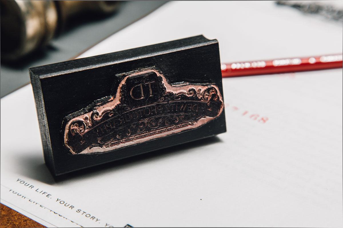 dewitz photography vintage branding set ink stamp