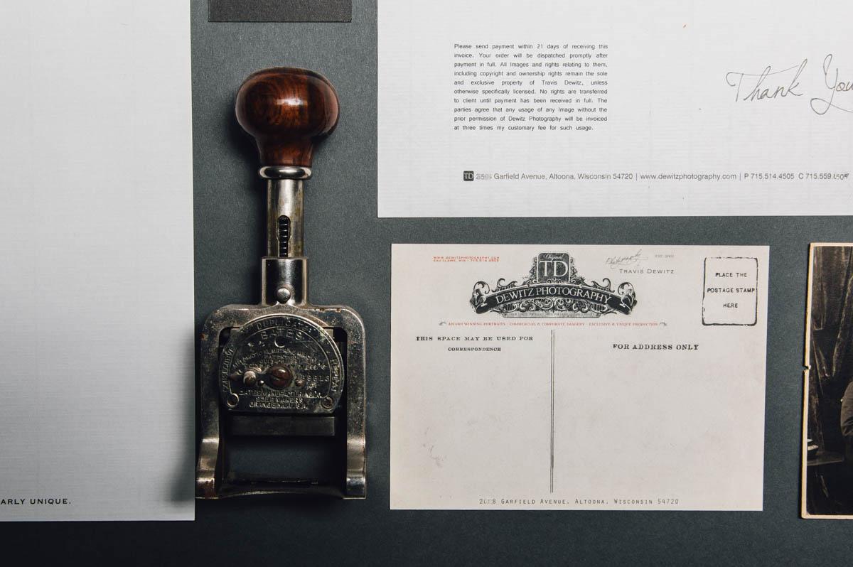 dewitz photography vintage branding set post card stamper-2390