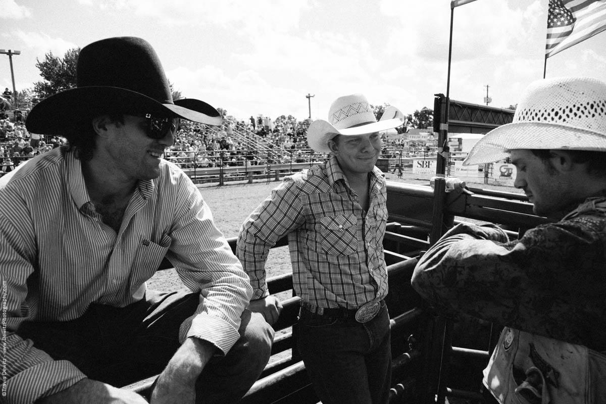 Bull Riders in Group Laugh-3244