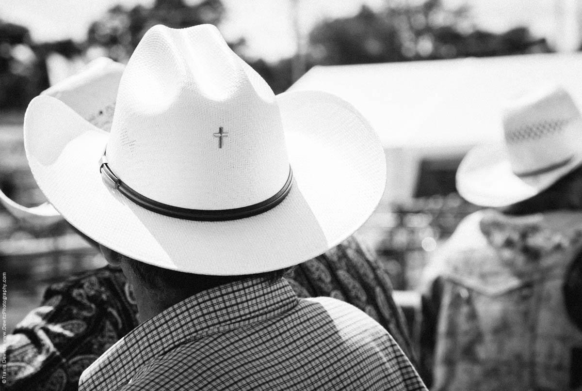 Gold Cross on Cowboy Hat-3264
