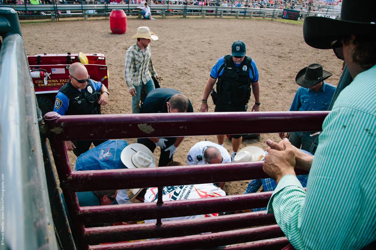 70-Injured Bull Rider Gets Help from Medics-3346