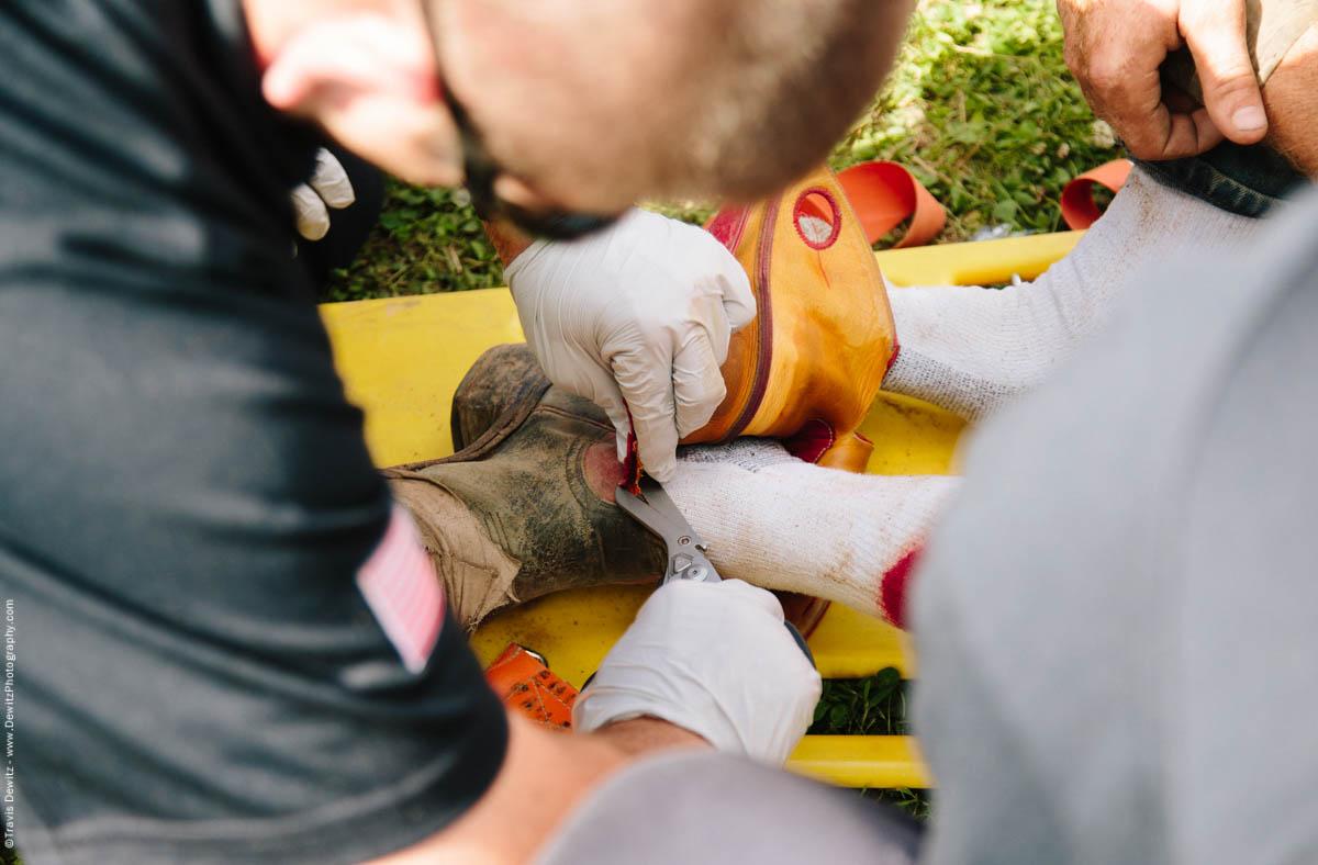 70-Medics Cut Off Bull Riders Leather Cowboy Boots-3372
