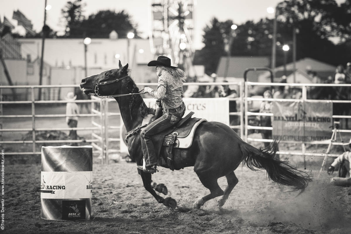 Wisconsin Rodeo Bull Riding And Barrel Racing Into The Night